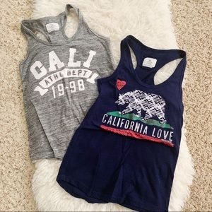 Reflex // Two California racer back tank tops